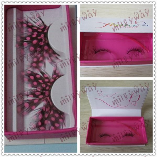Milkyway wholesale cheap thick long fluffy double layered horse hair lashes