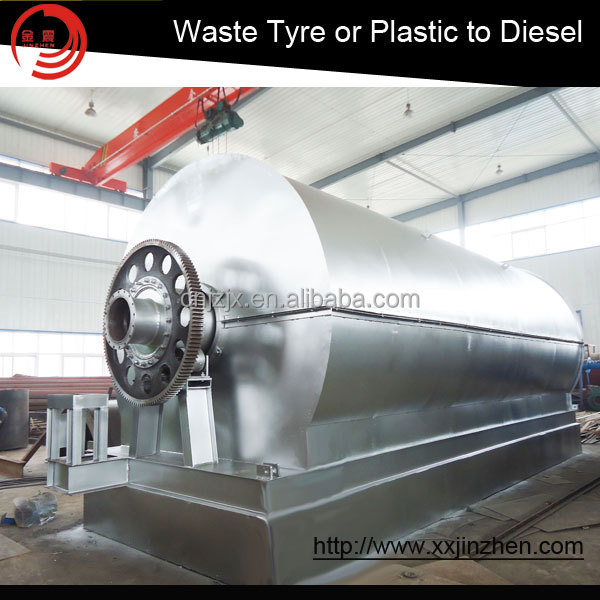 100% Environmental and Higher Quality waste tyre recycling plant to Fuel Oil, Carbon Black