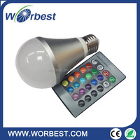 E27 5W RGB Multicolor LED Lamp Light 16 Color Changing Bulb + IR Remote Control