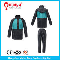 Maiyu Waterproof Soft Polyester Full Length Raincoat Rainsuit Motorcycle Used Wholesale Raincoats