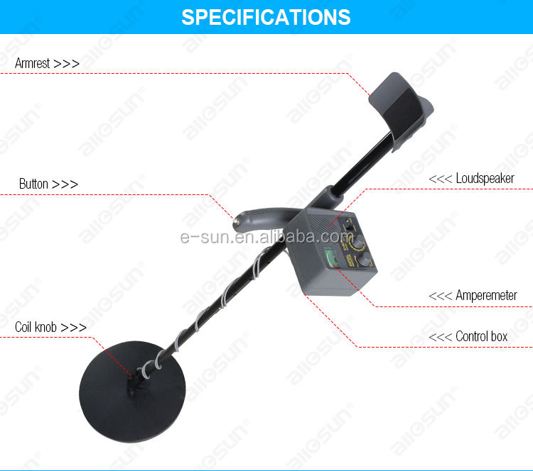 All-sun TS150 Metal Detector Underground Metal Detector Explorer Gold Digger Treasure for Gold Coins Relics