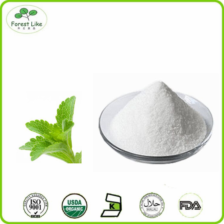 High quality Stevia leaf Extract 95% Steviol glycoside 60% Rebaudioside A