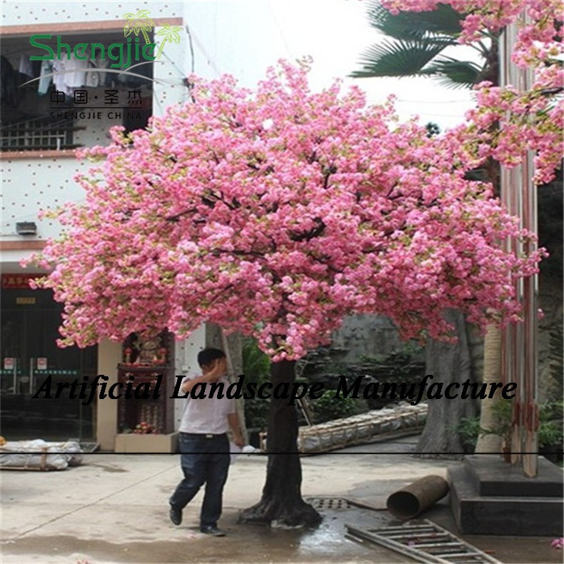 SJZJN 092 Artificial Trees Cherry Blossoms Artificial Fake Plastic Indoor Wedding Cherry Blossom Tree