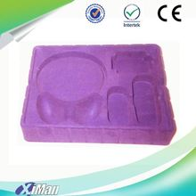 Newest 2017 China wholesale cheap blister plastic flocking tray for packing wine/cosmetic