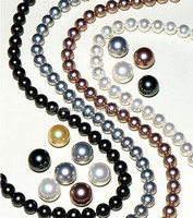 Assorted colors Acrylic imitation pearls , ABS plastic pearls