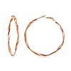 Stainless Steel fashion twisted gold hoop earring women jewelry