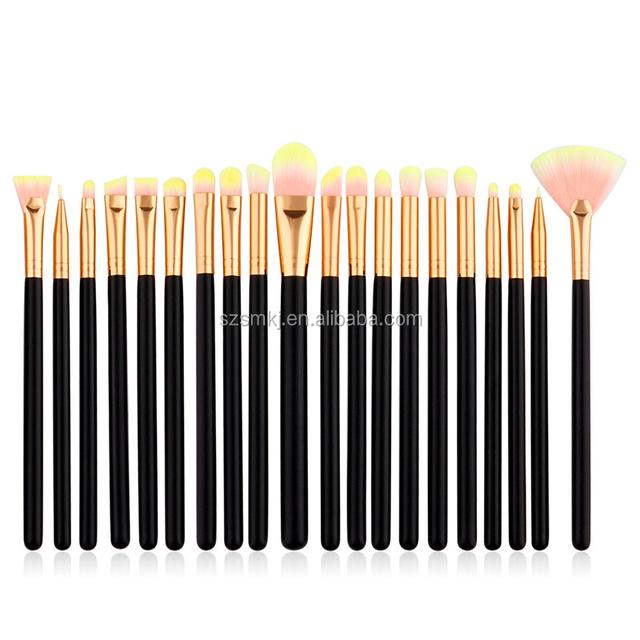 20 Pieces Professional Eye Foundation Lip Makeup Brushes Powder Cosmetics Blending Makeup Brush Tool