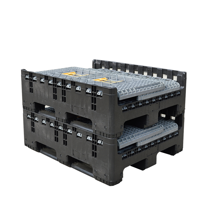 Heavy duty storage folding plastic pallet bin for industry