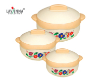 Floretta 3 Piece Hot Pot Set
