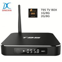 T95 Amlogic S905 Android TV Box Quad Core 1G RAM 8G ROM Metal Shell Digital Display