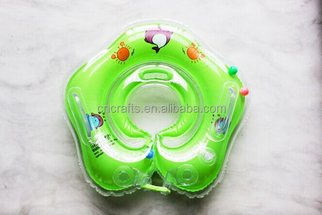 Inflatable baby infant swimming float ring inflatable infant swim neck float ring