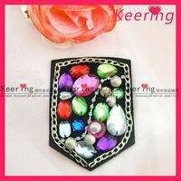 colorful sewing metal band fabric applique patch wholesale WPH-1689