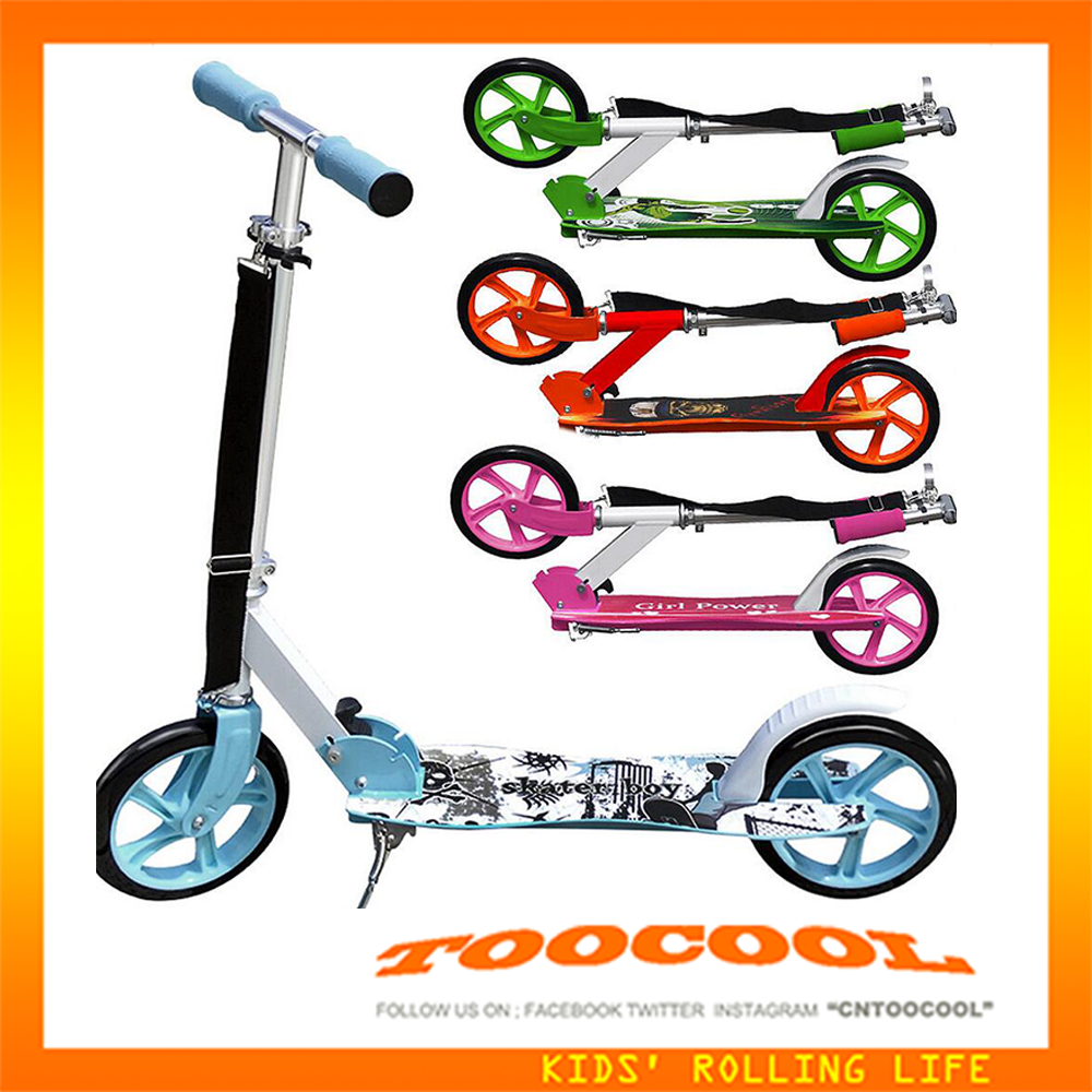 WG02 new model quick foldable adult kick scooter