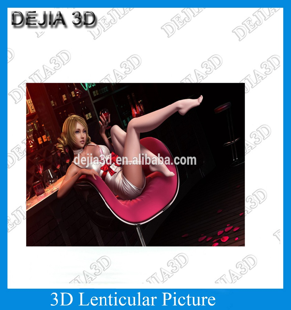 customized 3D Nude Picture 3D Lenticular Picture Sexy Girl