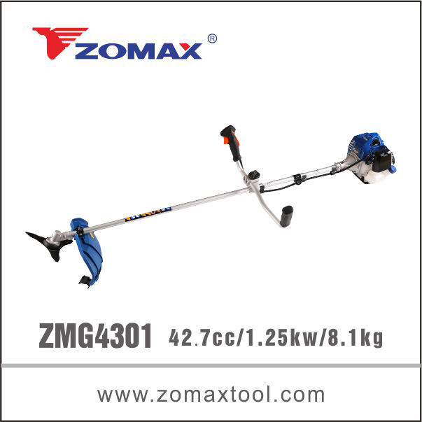 ZMG4301 43cc 1.25kw bike handle brush cutter bush cutting machine