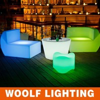 big led sofa for one people LED straight sofa and LED corner sofa furniture