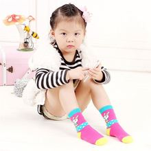 High end custom design antibacterial seamless kids socks