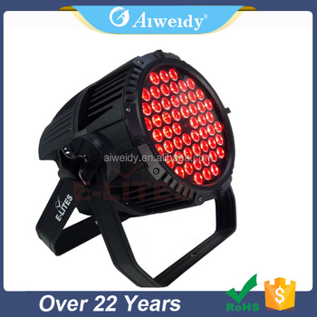 Indoor led wash light 54X3W RGBW led par can lights for sale