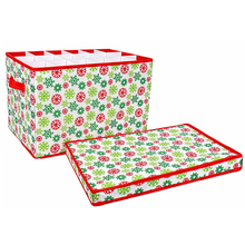 Christmas decorative cardboard ornament storage box with lids