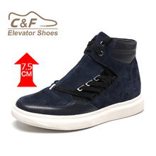 High Top Boots Zapatos High Ankle Suede Sports Shoes Sneaker with Hidden Insole