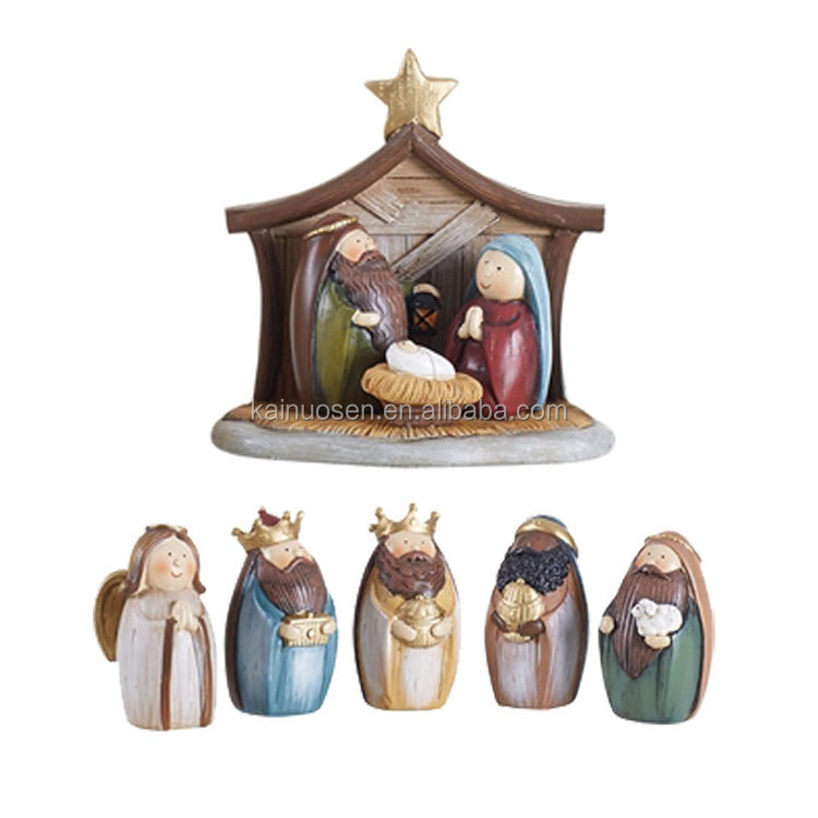 Christmas Nativity Scene Set (Resin) with Holy Family