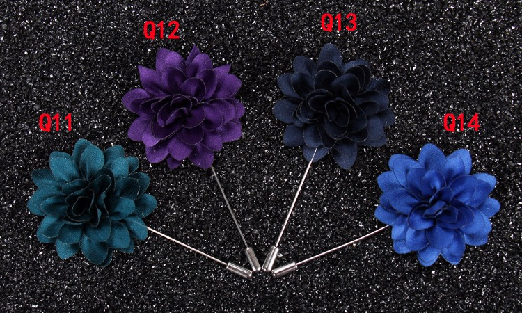 Flower Lapel Pins Brooches for Women High Quality Broches Lapel Pin For Wedding Handmade Suits Shirt Men Brooch
