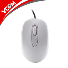 OEM White mouse Computer wired USB Optical Mouse RoHs Bulk customized logo