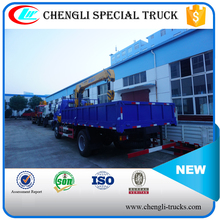 Manufacture FOTON 4*2 120hp 5tons Cargo Lorry Mounted Crane Truck
