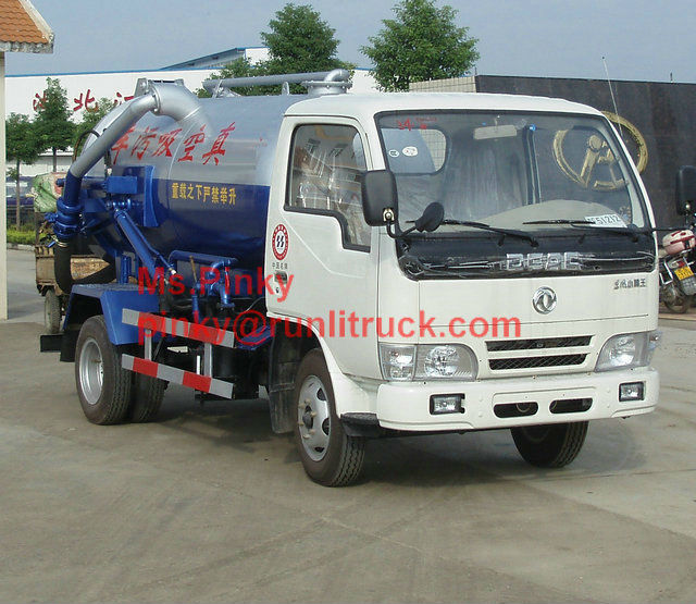 Mini Vacuum Trucks Dongfeng 2 Tons Septic Tanker Truck Sewage Suction Truck For Sales
