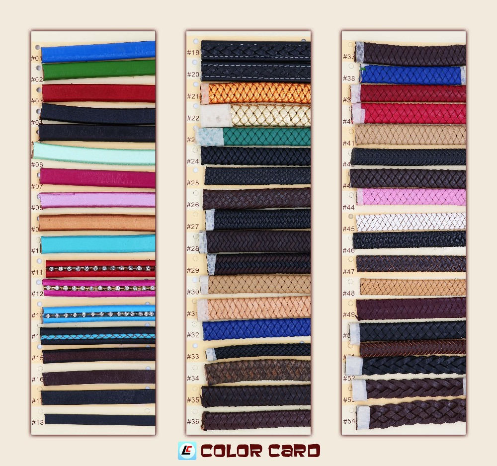 Cord Jewelry Findings Type Flat Leather Cord 8mm/Many Shapes and Colors for Choice