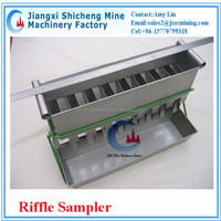 stainless steel riffle sampler for laboratory use