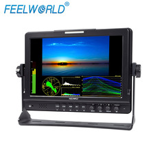 "Vectorscope Waveform RGB Histogram dual SDI input and output 10.1"" IPS lcd monitor professional movie camera"
