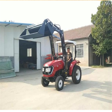 factory new model cheap price 25hp to 40hp 4wd small farm tractor with front loader