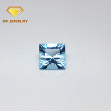 Square Millenium Cut Aquamarine 10mm Cubic Zirconia Gems