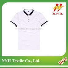 custom design white casual t shirt wholesale china with collar