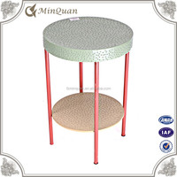 chinese small rustic round dine table , wrought iron table