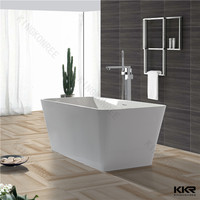 italian classic design solid surface bathtub with sgs&ce