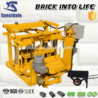 cement standard brick making machine, high efficiency manual unfire brick making machine process line