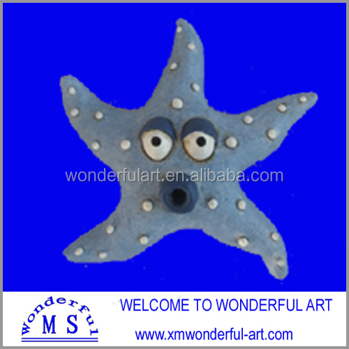 cute and lovely polyresin starfish for your choice