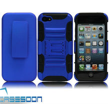 New Blue Shell Holster Combo Belt Clip Case with Kick Stand for Apple iPhone 5
