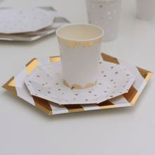 Ningbo Factory 20 years manufacturing supplier of silver laminated disposable quality paper plates for snacks purpose