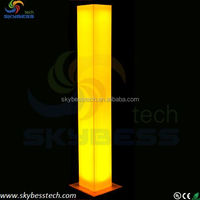 Lighitng furniture plastic cylinder light,plastic pillar decoration