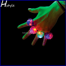 Basketball Soft Flicker Fashion Soft LED Bumpy Ring SL013