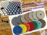 7 Step Angle Grinder Polishing Pads for marble & granite