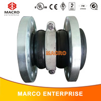 double arch floating flange rubber expansion joint with reinforce ring
