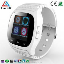 2016 Hot selling bluetooth led smart watch M26 wristwatch with pedometer for android and ios mobile phone