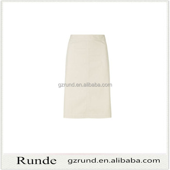 Ladies elegant women beige color long plain skirt hot sell skirt on alibaba