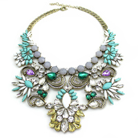 Newest Alloy Statement Necklace Diamonds Jewellery
