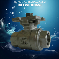 1000WOG 2 PC Ball Valve With Direct Mounting Pad