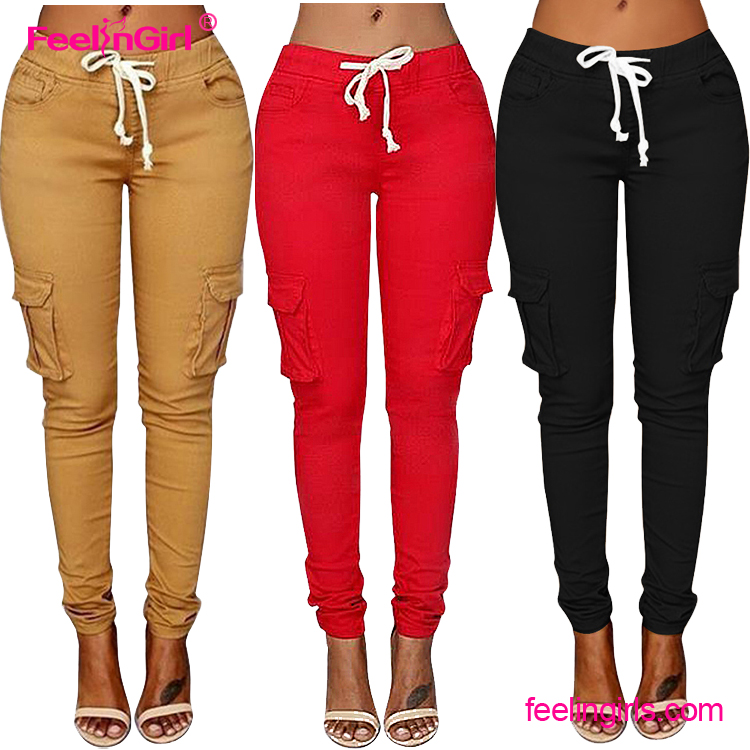 Wholesale high quality long casual sport pants for women